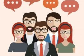 comunicazione di utenti social
