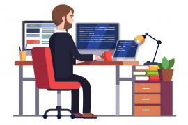 Programmatore al lavoro
