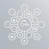 Copertina di categoria How To - disegno vettoriale con icone informatiche